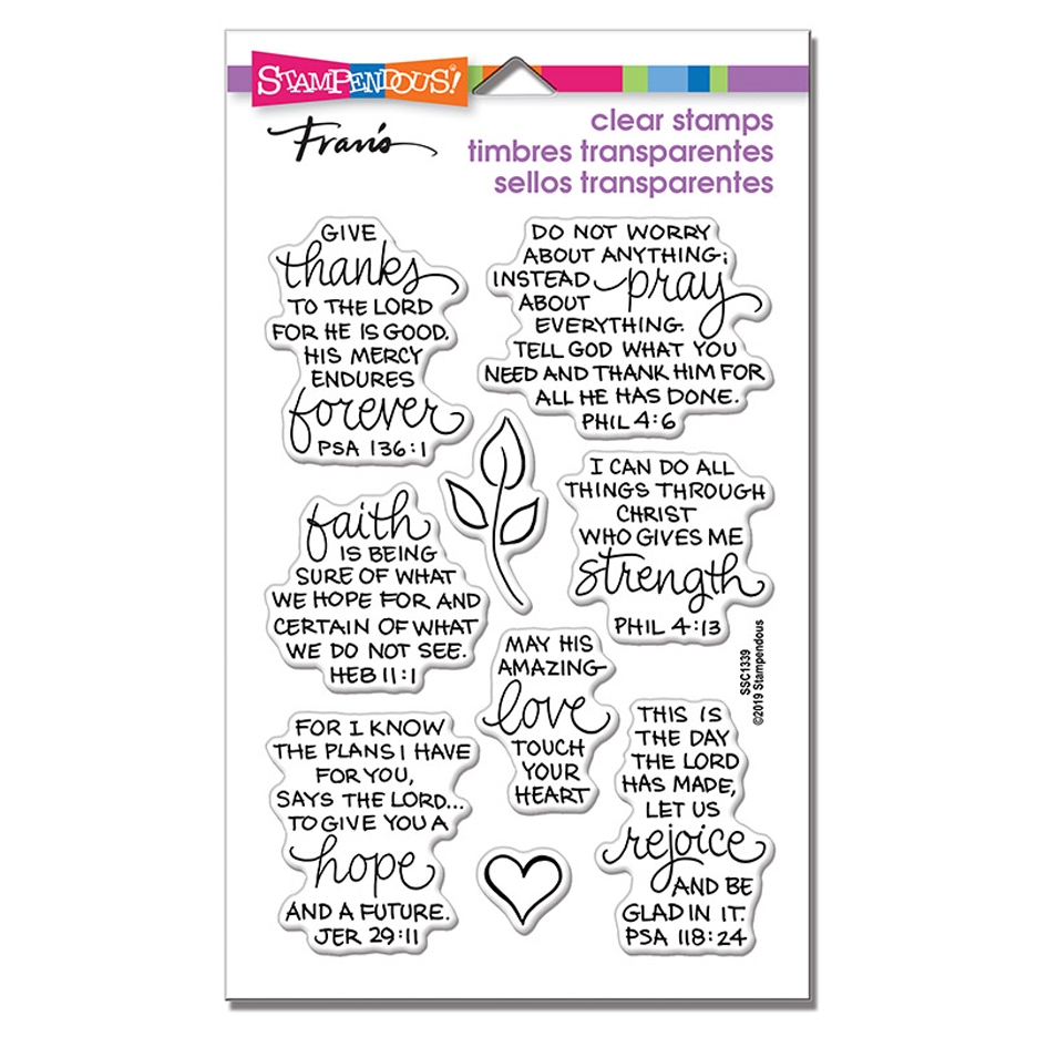 Stampendous Clear Stamps BIBLE VERSES ssc1339 zoom image
