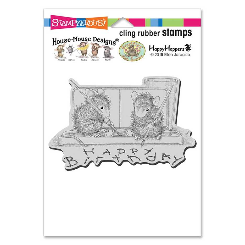 Stampendous, House Mouse Watercolor Wish Cling Stamp