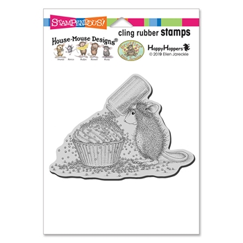 Stampendous Cling Stamp CUPCAKE SPRINKLES hmcp115 House Mouse