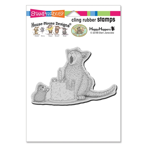 Stampendous, House Mouse Birthday Kitty Cling Stamp