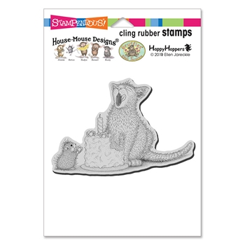 Stampendous Cling Stamp BIRTHDAY KITTY hmcp117 House Mouse