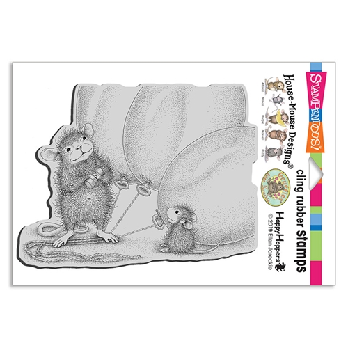 Stampendous Cling Stamp BALLOON BUDDIES hmcr134 House Mouse Preview Image