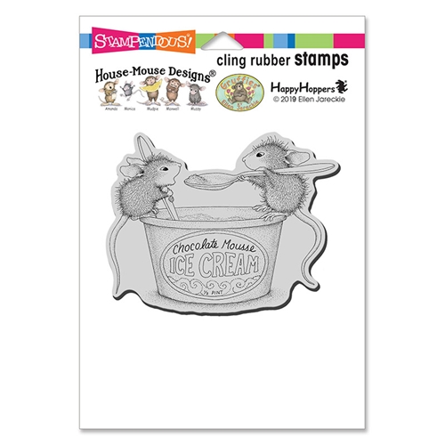 Stampendous, House Mouse Mousse Mice Cling Stamp