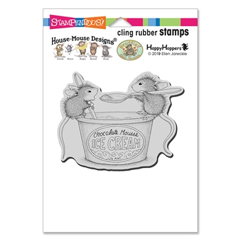 Stampendous Cling Stamp MOUSSE MICE hmcp119 House Mouse