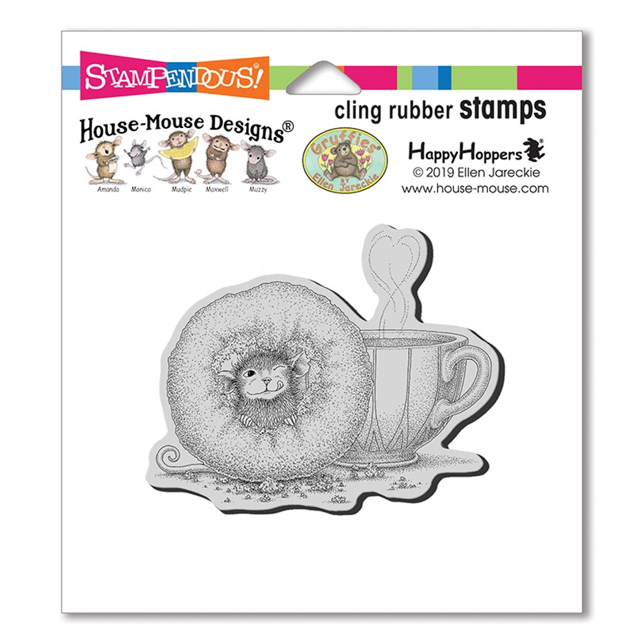 Stampendous Cling Stamp DONUT DAY Rubber hmcv39 House Mouse zoom image