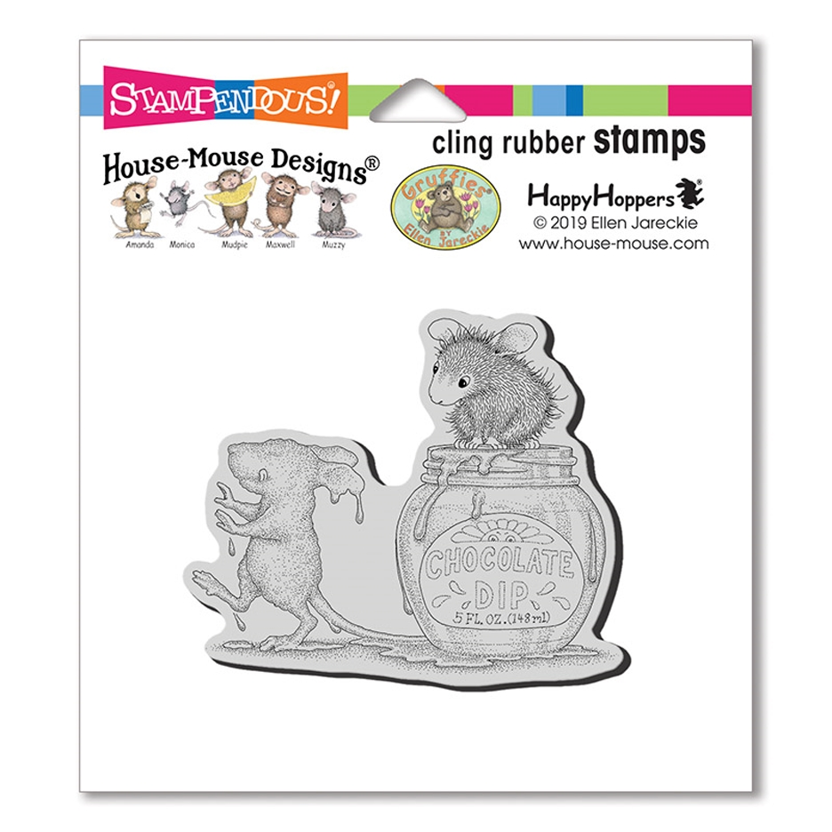 House Mouse Chocolate Dip Cling Stamp