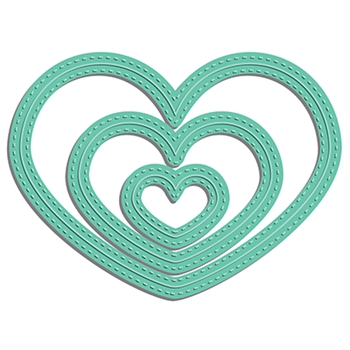 LDRS Creative STITCHED HEART Dies 8117