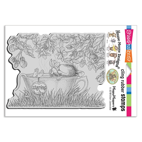 Stampendous Cling Stamp JASMINE TEA hmcr135 House Mouse Preview Image