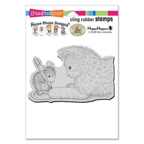 Stampendous, House Mouse Kitten Cast Cling Stamp