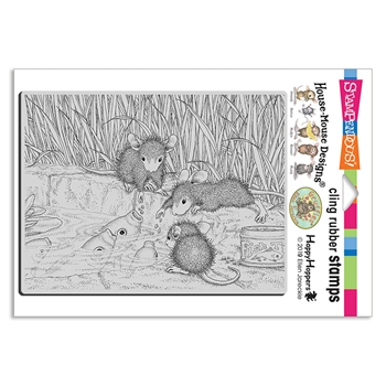 Stampendous Cling Stamp FEEDING KOI hmcr136 House Mouse