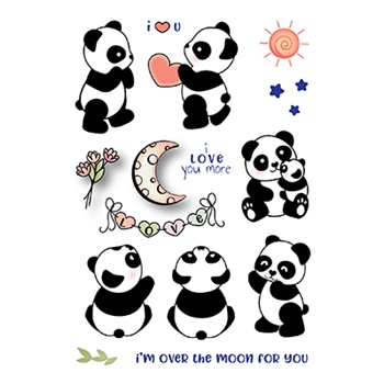 LDRS Creative PANDA PLAY Clear Stamps 3198