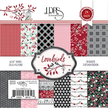 LDRS Creative LOVEBIRDS 6 x 6 Paper Pack 3203