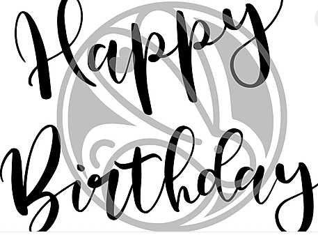 The Rabbit Hole Designs HAPPY BIRTHDAY Clear Stamps TRH-48 zoom image