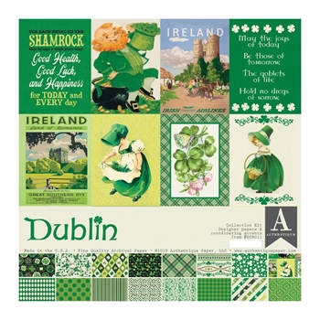 Authentique DUBLIN 12 x 12 Collection Kit dub011