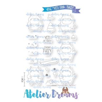 Atelier Dreams YETI FOR THIS Clear Stamp Set ad105