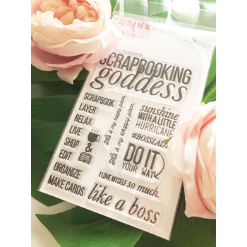 The Ink Road SCRAPBOOKING GODDESS Clear Stamp Set inkr073