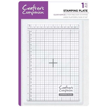 Crafter's Companion 9 x 6 CLEAR STAMPING PLATE cc-tool-stplate