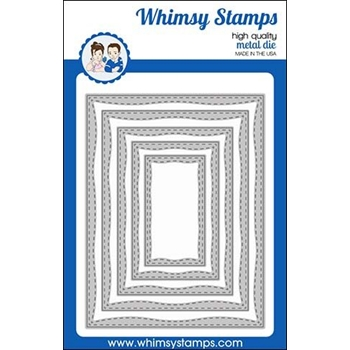 Whimsy Stamps WONKY STITCHED RECTANGLES Die WSD437