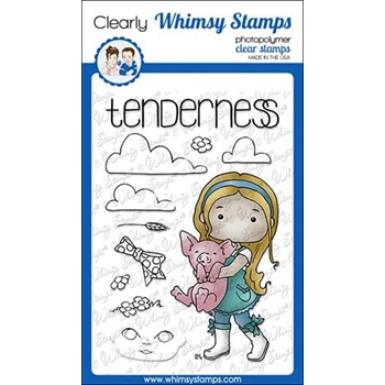 Whimsy Stamps POLKA DOT PALS SYEDA Clear Stamps BS1002