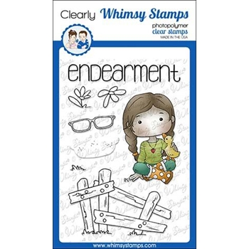 Whimsy Stamps POLKA DOT PALS FERN Clear Stamps BS1001