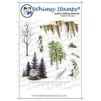 Whimsy Stamps CREATE A SCENE FOREST Clings DACAS02