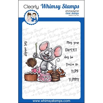 Whimsy Stamps CANDY MOUSE Clear Stamps DP1037