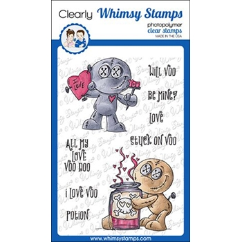 Whimsy Stamps VOO DOO TOO Clear Stamps DP1036