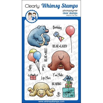 Whimsy Stamps BEARING GIFTS Clear Stamps C1304*