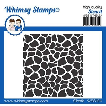 Whimsy Stamps GIRAFFE Stencil WSS124