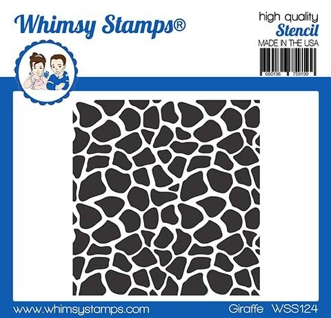 Whimsy Stamps GIRAFFE Stencil WSS124 zoom image