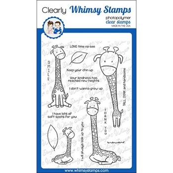 Whimsy Stamps GIRAFFE SMILES Clear Stamps CWSD185