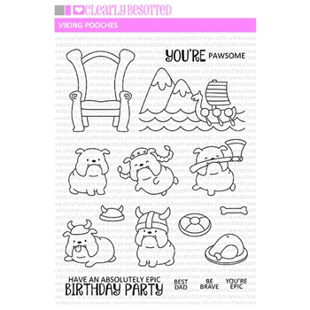 Clearly Besotted VIKING POOCHES Clear Stamps