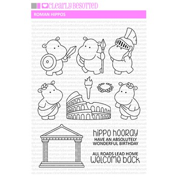 Clearly Besotted ROMAN HIPPOS Clear Stamps*