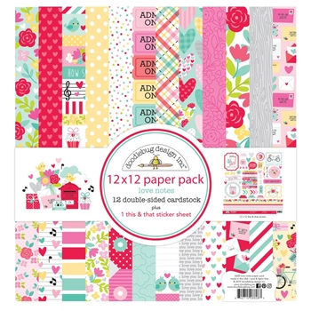 Doodlebug LOVE NOTES 12x12 Inch Paper Pack 6608