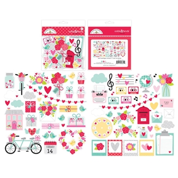 Doodlebug LOVE NOTES Odds and Ends Die Cuts 6601