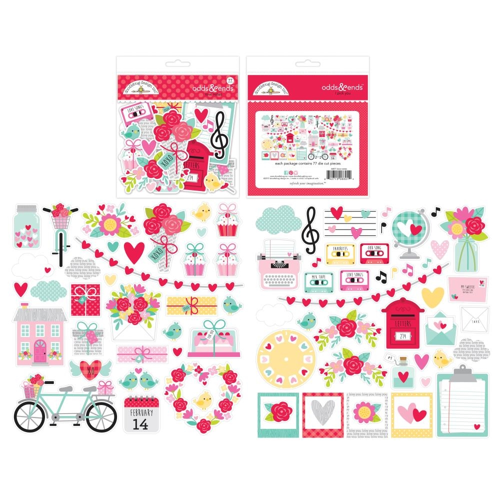 Doodlebug LOVE NOTES Odds and Ends Die Cuts 6601 zoom image