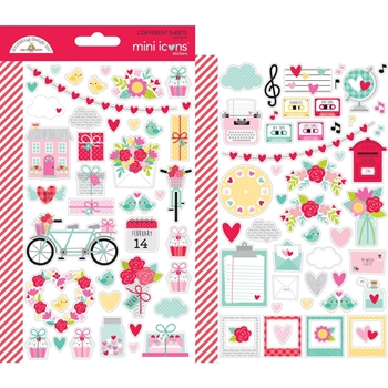 Doodlebug LOVE NOTES Mini Icons Cardstock Stickers 6583