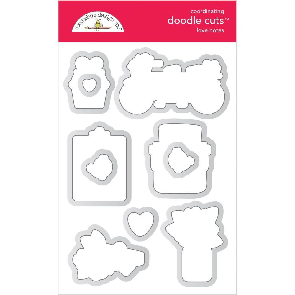 Doodlebug LOVE NOTES Doodle Cuts Dies 6585 zoom image