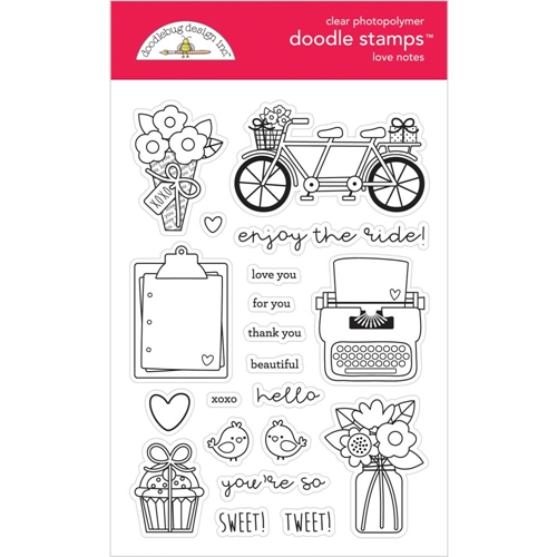 Doodlebug LOVE NOTES Clear Stamps 6584 Preview Image