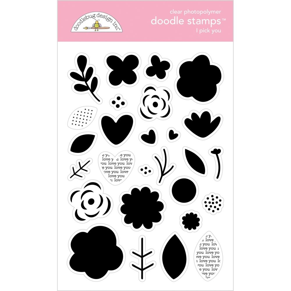 Doodlebug I PICK YOU Clear Stamps Love Notes 6586* zoom image