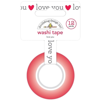 Doodlebug LOVE YOU Washi Tape Notes 6571