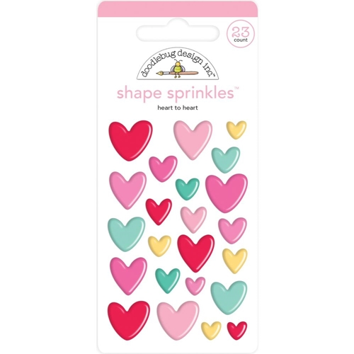 Doodlebug HEART TO HEART Sprinkles Adhesive Glossy Enamel Shapes 6576 Preview Image