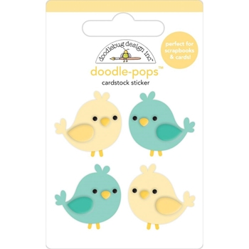 Doodlebug TWEETHEARTS Doodle Pops 3D Stickers Love Notes 6581