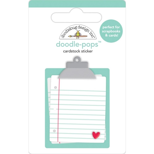 Doodlebug LOVE NOTES Doodle Pops 3D Sticker 6582 Preview Image