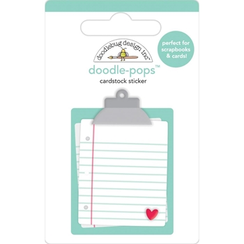 Doodlebug LOVE NOTES Doodle Pops 3D Sticker 6582