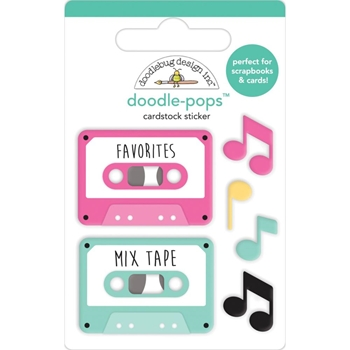 Doodlebug OUR SONG Doodle Pops 3D Stickers Love Notes 6580
