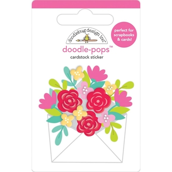 Doodlebug SENDING LOVE Doodle Pops 3D Sticker Notes 6579