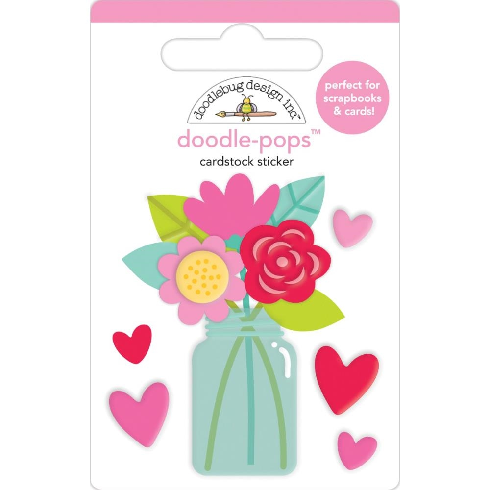 Doodlebug LOVE YOU BUNCHES Doodle Pops 3D Stickers Notes 6577 zoom image