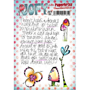 Paper Artsy JOFY 89 Cling Stamps jofy89