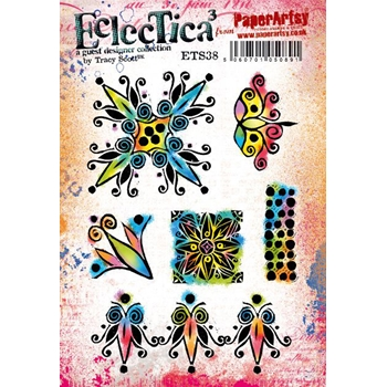 Paper Artsy ECLECTICA3 TRACY SCOTT 38 Cling Stamps ets38